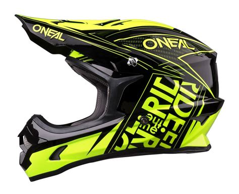 Helm Cross Oneal 3 Series Fuel Black Hi Vis Oneal 2018 3 Series Fuel Black Hi Viz Dirtbike Helmet