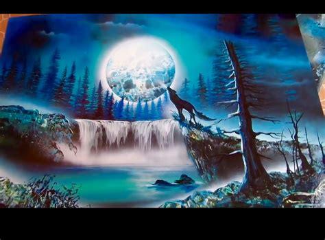 spray paint tutorial en espaã ol wolf and moon spray paint