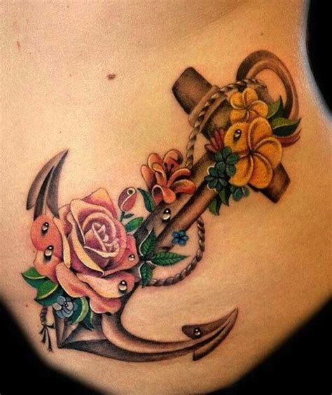 anchor flower tattoo designs 140 best anchor tattoos to stay grounded