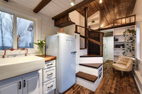 rustic glamour tiny home  mint tiny house company