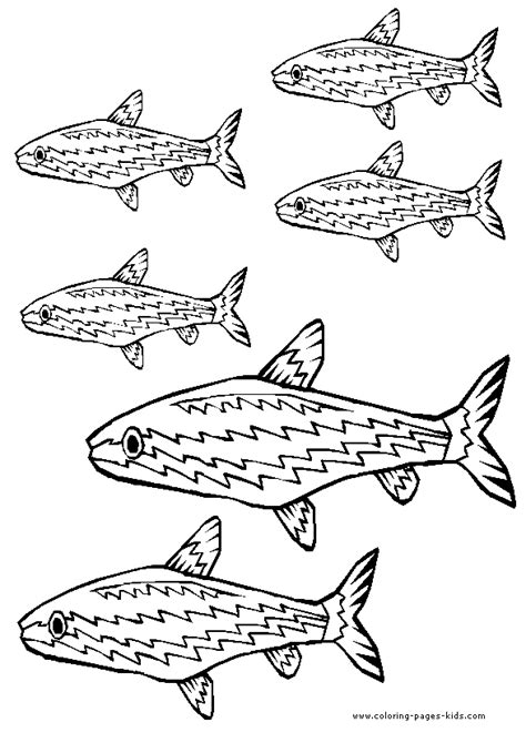 coloring page school of fish school of fish coloring page