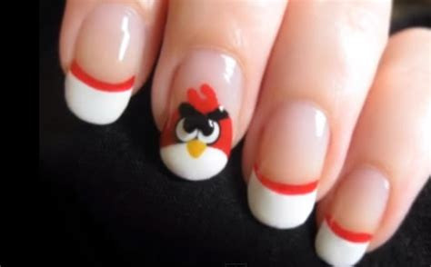 nail art bird tutorial how to nail art of angry birds and evil green pigs