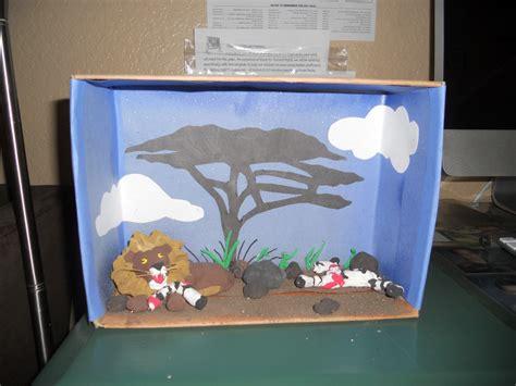 printable diorama animals habitat shoebox dioramas بحث google make 4 kids