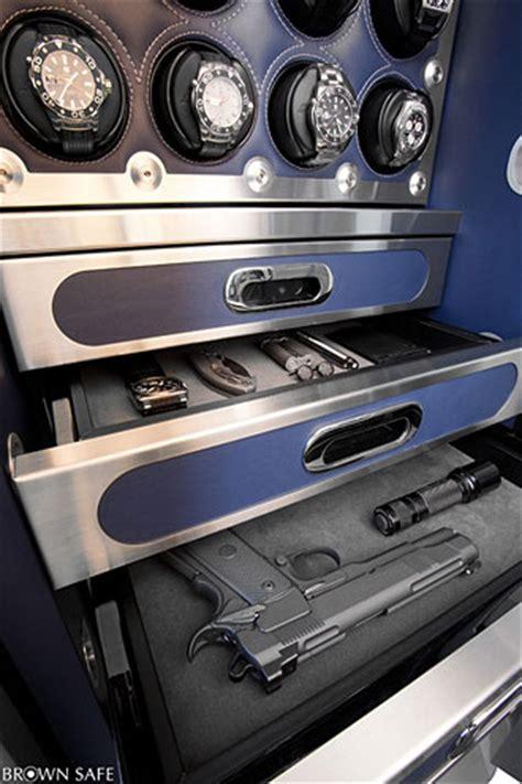Custom Home Interior Design brown premium gun safes