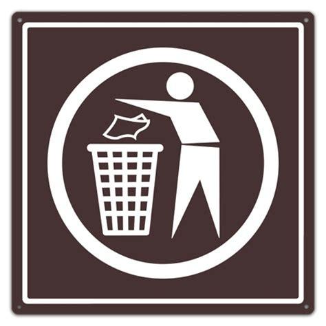 Home Decor Wood Signs by Trash Symbol Sign Trash Utility Sign Trash Waste