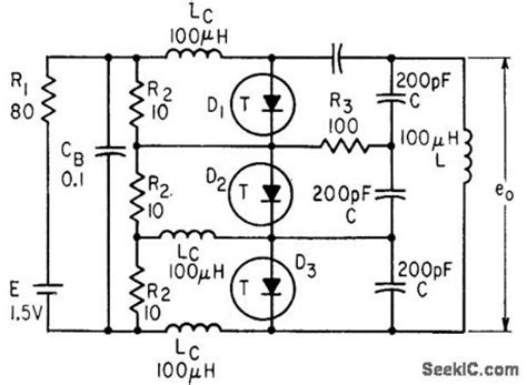 tunnel diode oscillator index 25 oscillator circuit signal processing circuit diagram seekic