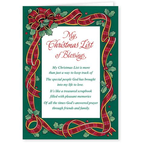 My christmas list religious christmas card set of 20 messages of