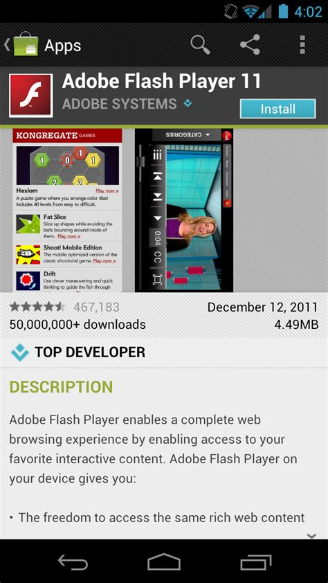flash for android adobe updates flash 11 1 to support android 4 0