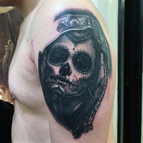 mexican death mask tattoo designs 70 day of the dead tattoos for mexican designs
