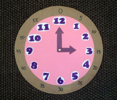 Make Your Own Paper Clock - top image