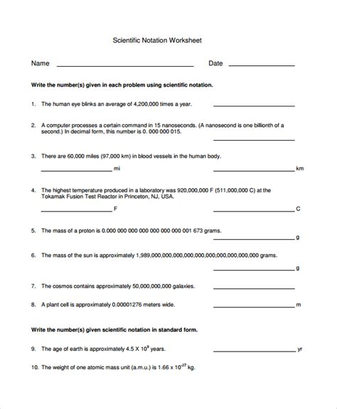 Scientific Notation To Standard Form Worksheet by Math Worksheets Scientific Notation Multiplying