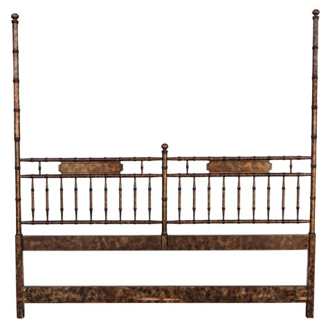 hollywood headboard hollywood regency chinoiserie faux bamboo headboard at 1stdibs