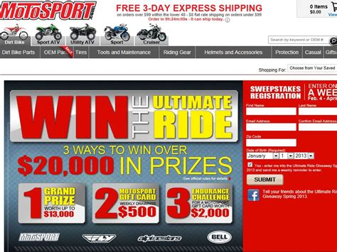 Motosport Ultimate Ride Giveaway - motosport ultimate ride giveaway sweepstakes