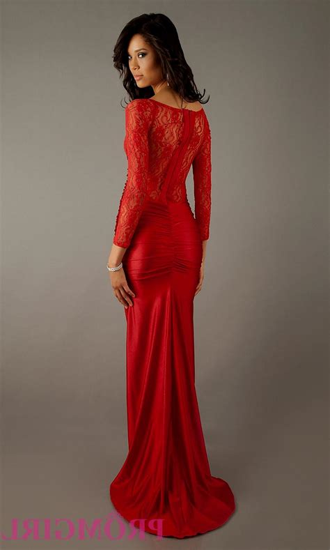 formal long sleeve lace prom dress red prom dresses with lace sleeves naf dresses