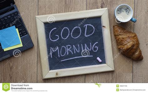 Good Morning Breakfast Stock Photo   Image: 49221155