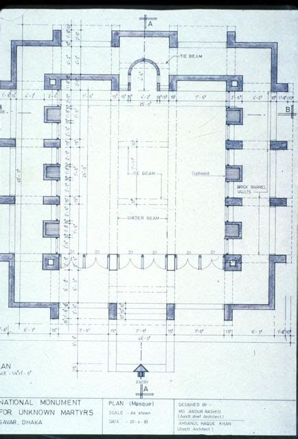 mosque floor plan mosque drawing plan images