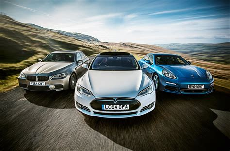 tesla model s vs bmw m5 vs porsche panamera triple test - Porsche Vs Bmw