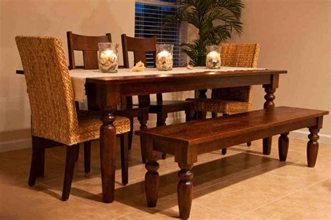 table with chairs and bench kitchen table with bench and chairs decor ideasdecor ideas