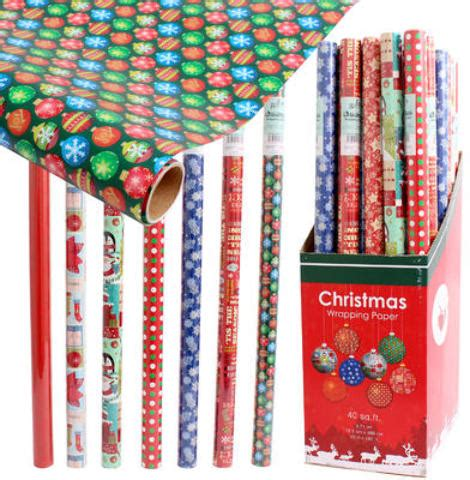 wholesale christmas gift wrap display assorted sku