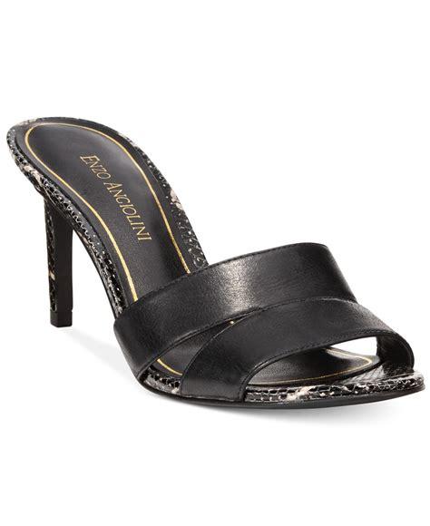 dressy slide sandals enzo angiolini alisity slide dress sandals in black lyst