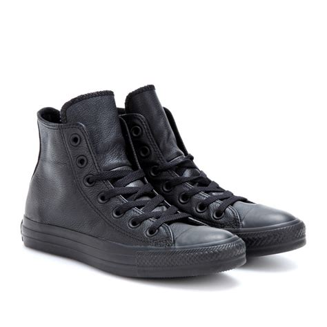 all black sneakers for converse chuck all leather hightop
