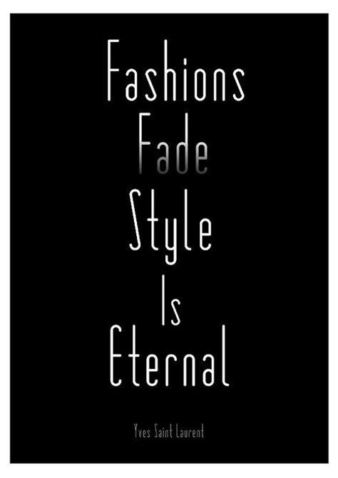 fashion quote print poster ysl black  white