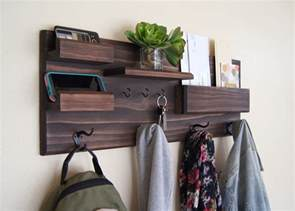 entryway shelves entryway organizer wall mounted floating shelf mail storage
