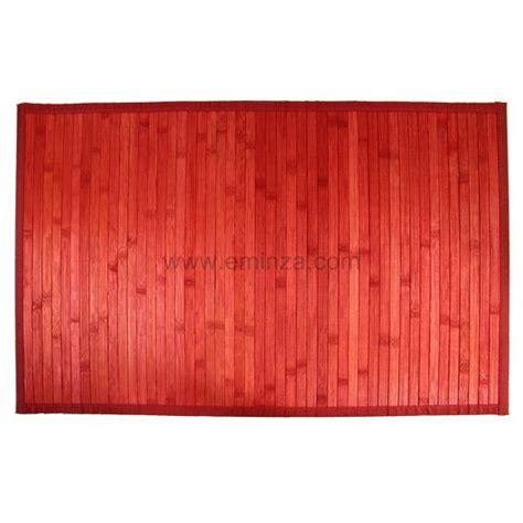 tappeto bagno rosso tappeto bagno cotone con listelli bamb 249 rosso tappeto