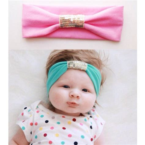 shop beautiful baby headbands on wanelo jersey sequin baby headband gold from