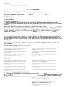 Florida Quit Claim Deed Form Template by Quitclaim Deed Form Forms And Templates Fillable Forms