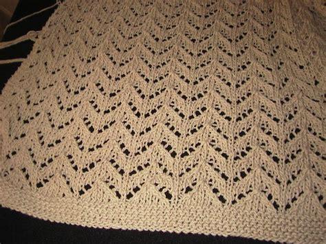 lace zig zag knitting pattern mari s knitting blog zig zag lace throw wip