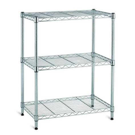 3 Tier Wire Shelf by Chrome 3 Tier Wire Shelf Eh Wsthdus 005 The Home Depot