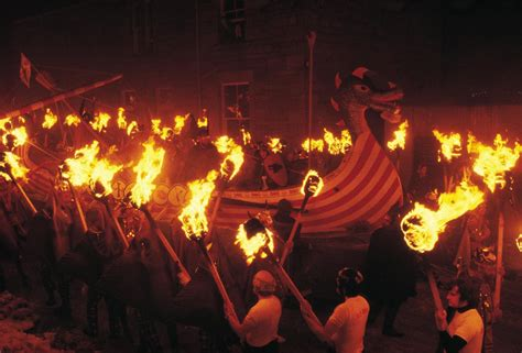 viking fire boat up helly aa shetland s viking fire festival visitscotland