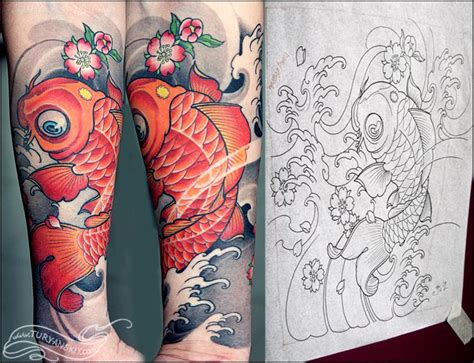new school japanese tattoo artist off the map tattoo tattoos traditional japanese koi