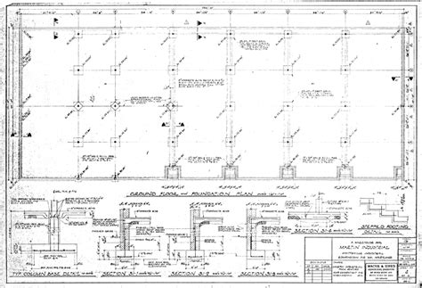 House Plan Details by Foundation Plan Drawing
