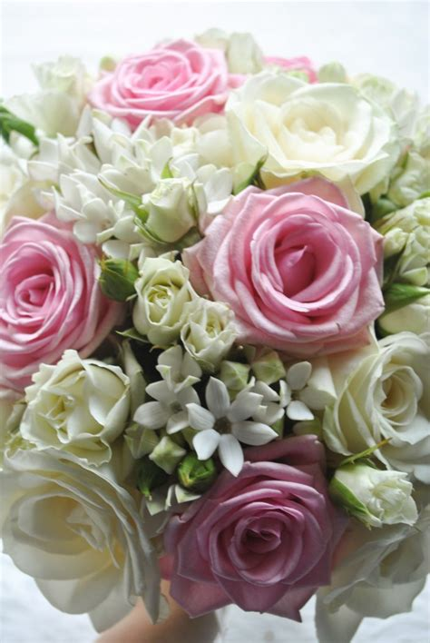Wedding Bouquet And White by Pink And White Wedding Flowers Heaton House Farm