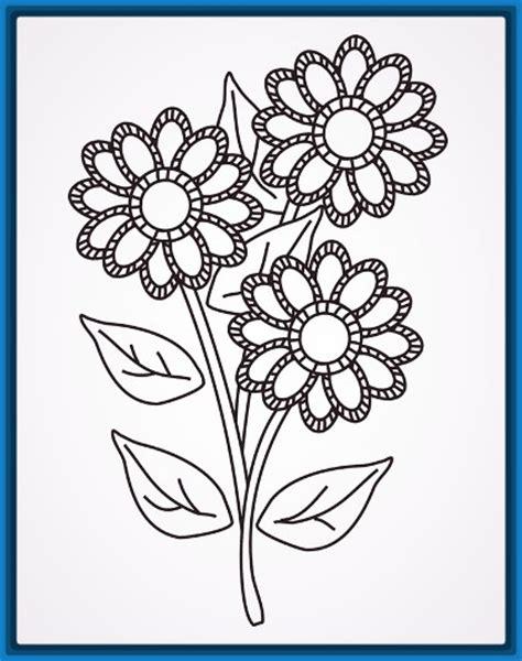 Im 225 Genes De Flores Bonitas Para Dibujar Imagenes De Amor | las flores faciles de dibujar flores para colorear