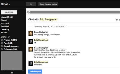 Gmail Email Search History On With Hangouts S New Text And Chat Architecture Ars Technica
