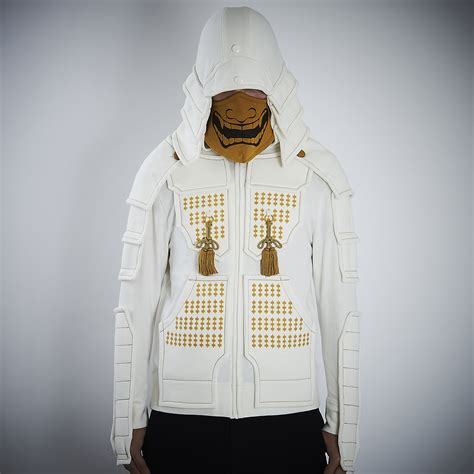 samurai armor hoodie set white tokyo otaku mode shop
