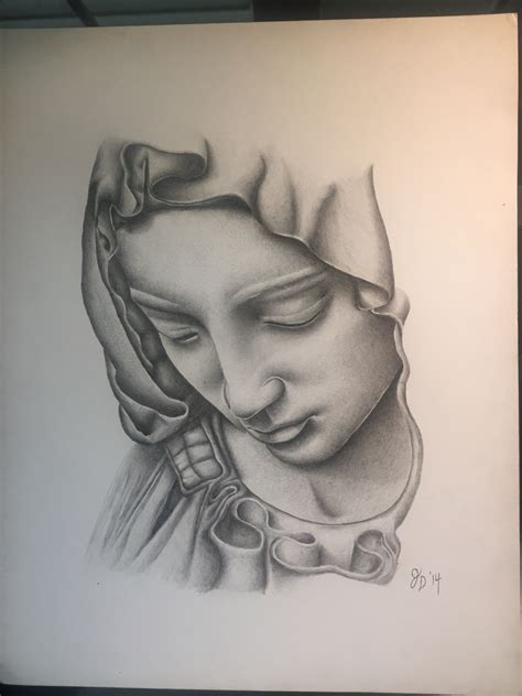 virgin mary done in acrylic pencil my art pinterest