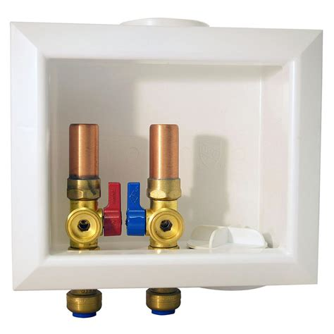 water hammer for washing machines tectite 1 2 in brass washing machine outlet box with