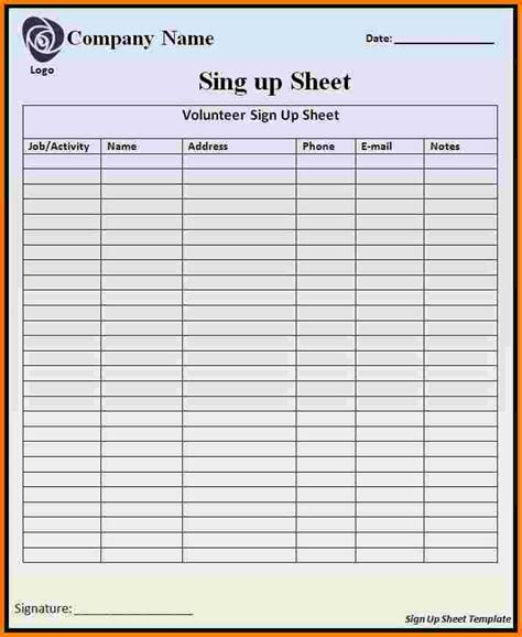 sign in sheet template doc 432593 template for sign in sheet printable sign