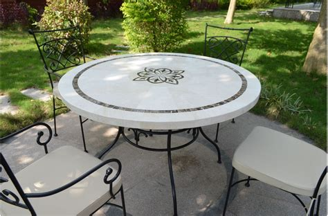 table patio ronde catgorie table de jardin page 4 du guide et comparateur d