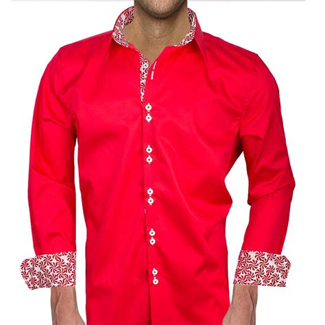 mens red christmas dress shirts