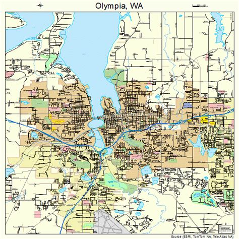 olympia washington map olympia washington map 5351300