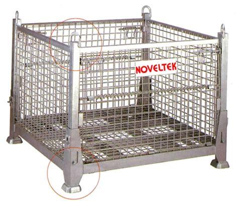 metal cage hanging storage cages noveltek lifting equipment manufacturer