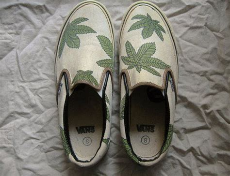 weed pattern vans 17 best images about cannabis shoe style on pinterest