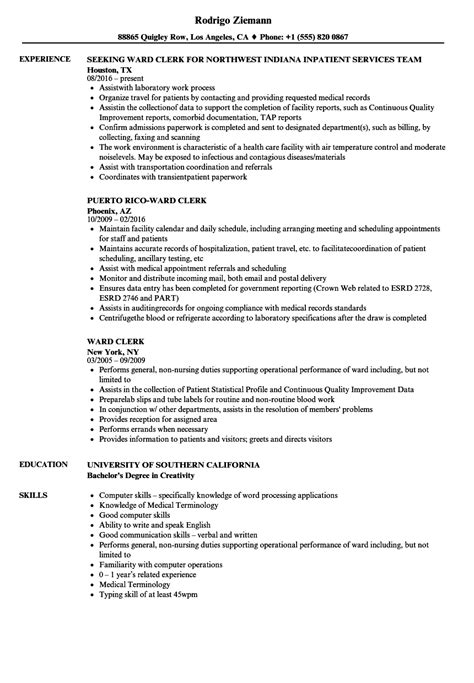 Census Clerk Sle Resume by Census Clerk Sle Resume Patient Account Specialist Sle Resume