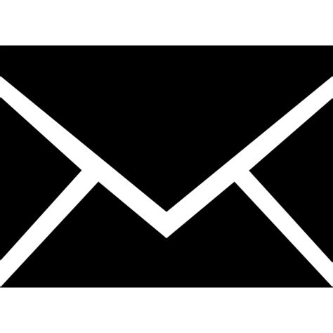 e mail nieuwe symbool zwart rug gesloten
