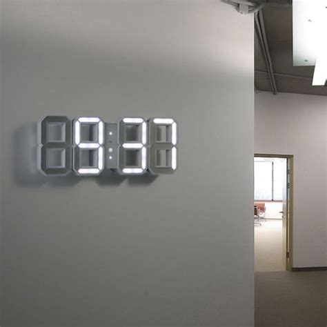 cool digital wall clocks 30 large wall clocks that don t compromise on style